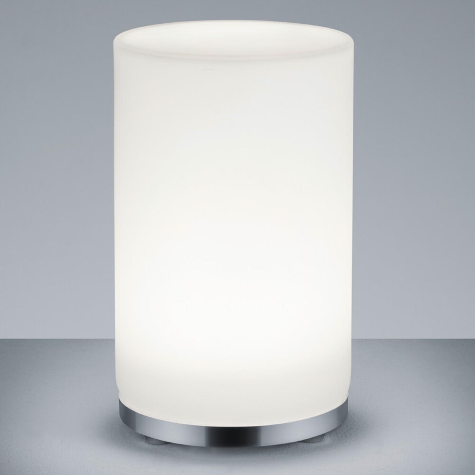 Zylinderförmige RGBW-LED-Tischleuchte John m. FB