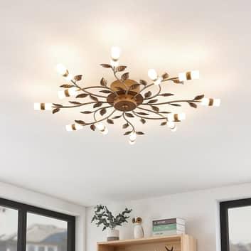 Lindby Bentas LED plafondlamp van metaal, brons