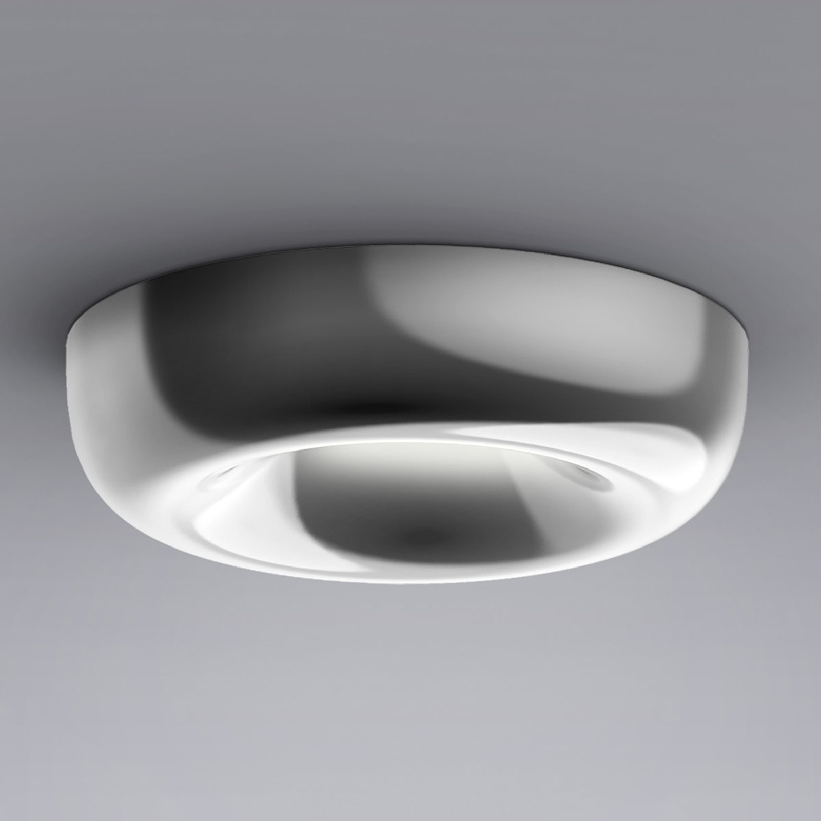serien.lighting Cavity Recessed L alluminio lucido