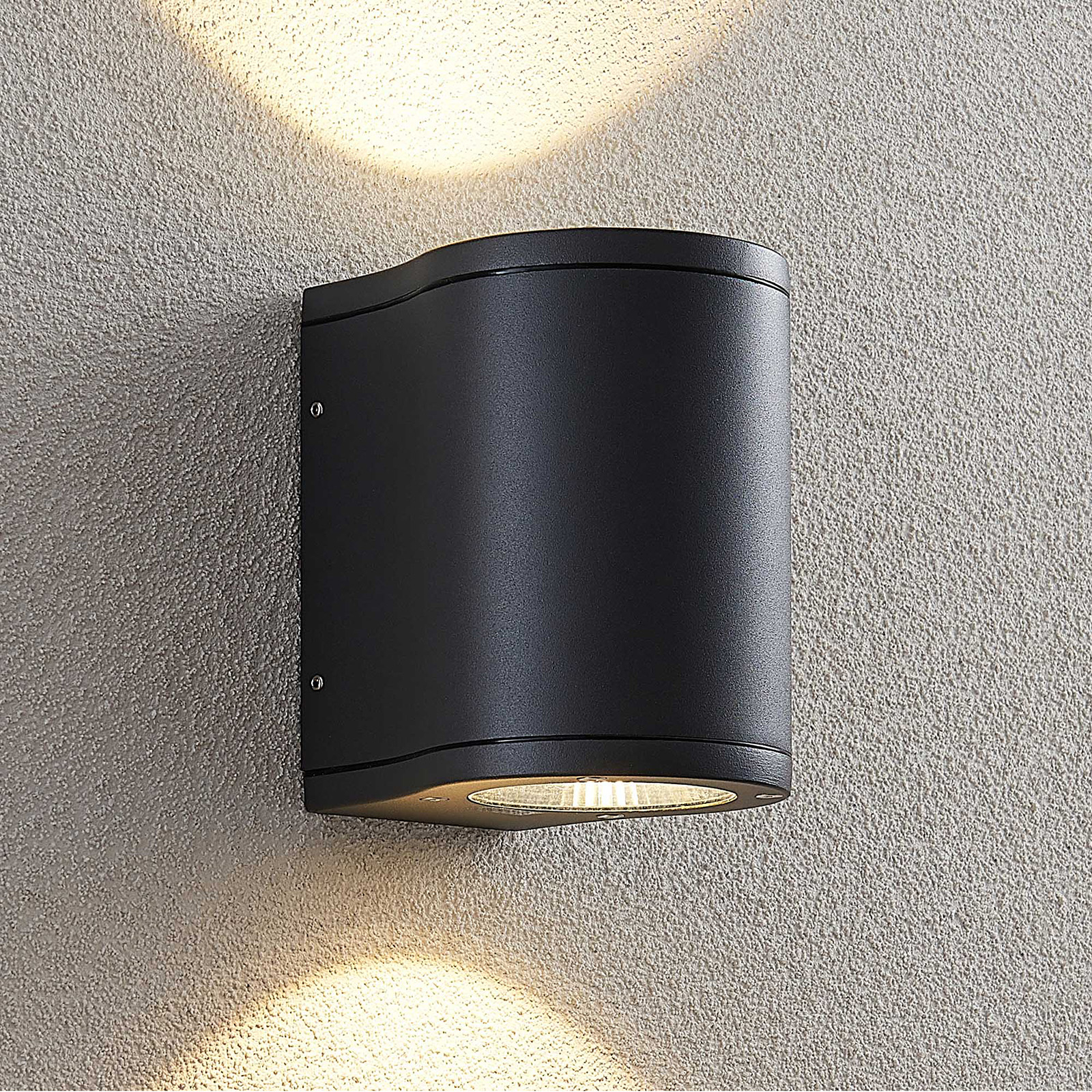 Lucande Janelis LED outdoor wall light, dark grey_9969174_1