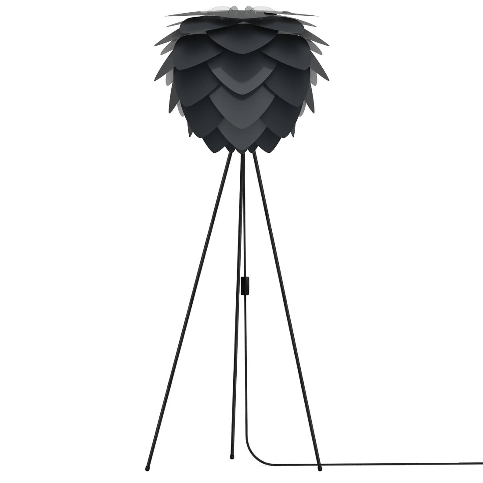 Trójnożna lampa stojąca Aluvia medium, antracytowa