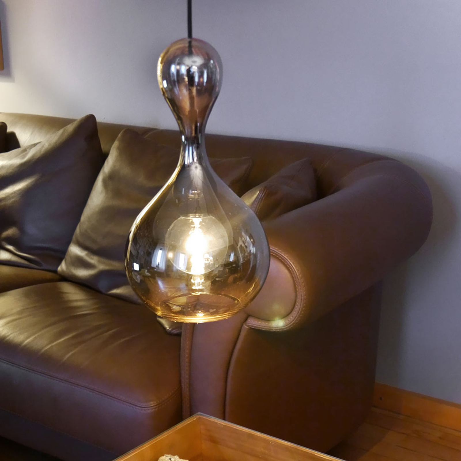 next Blubb - Hängeleuchte aus Glas, chromfarben