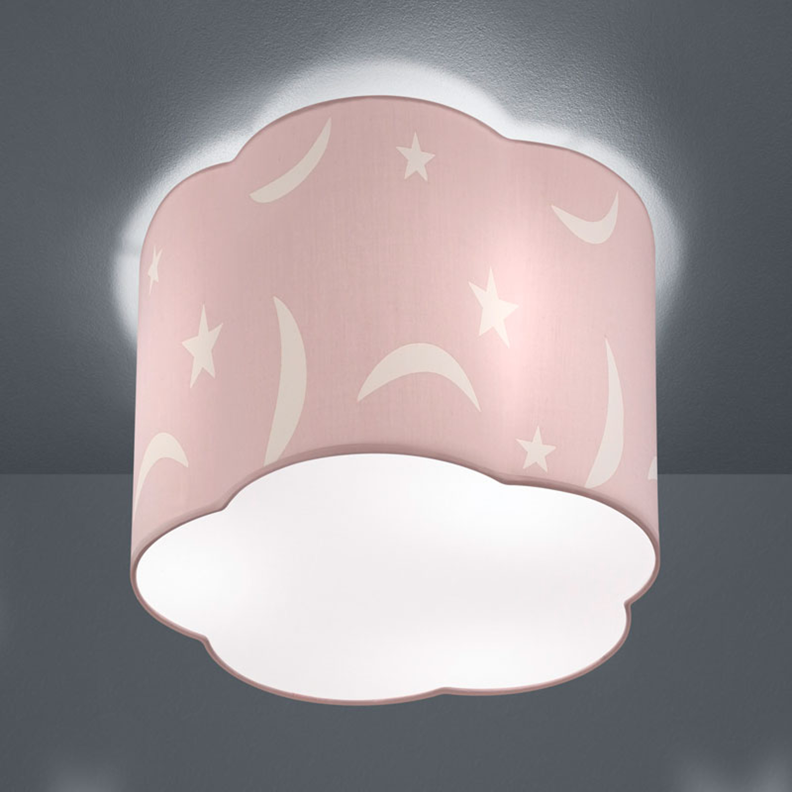 Taklampe Moony 25 cm pastellrosa