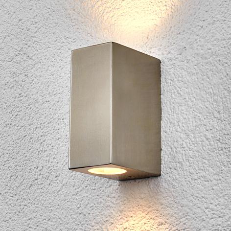 Lindby Haven applique, inox, 2 lampes, 14cm