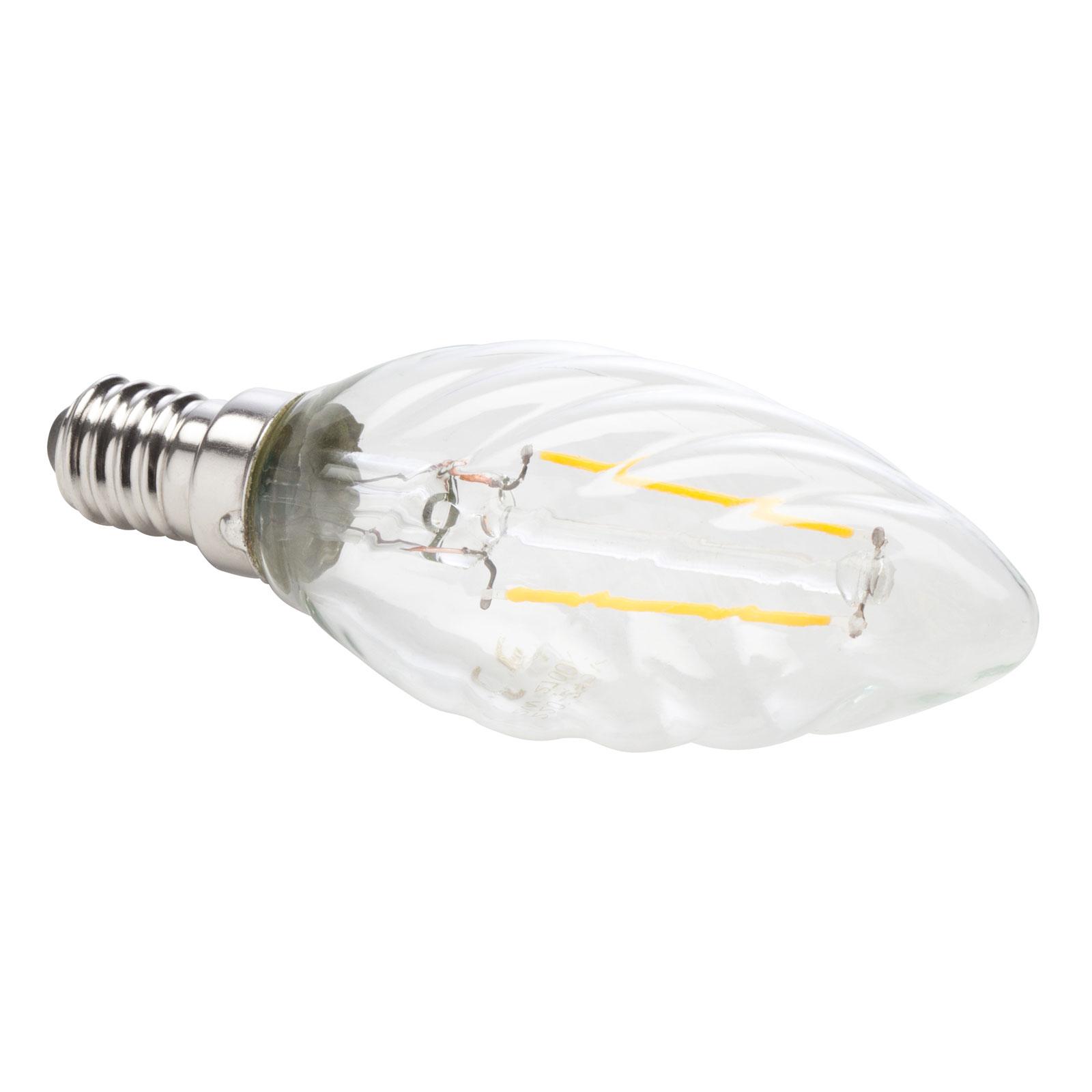 LED E14 4,5W 927 trasparente candela ritorta