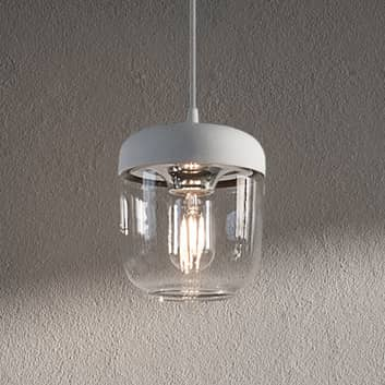 UMAGE Acorn hänglampa vitt/stål, 1 lampa
