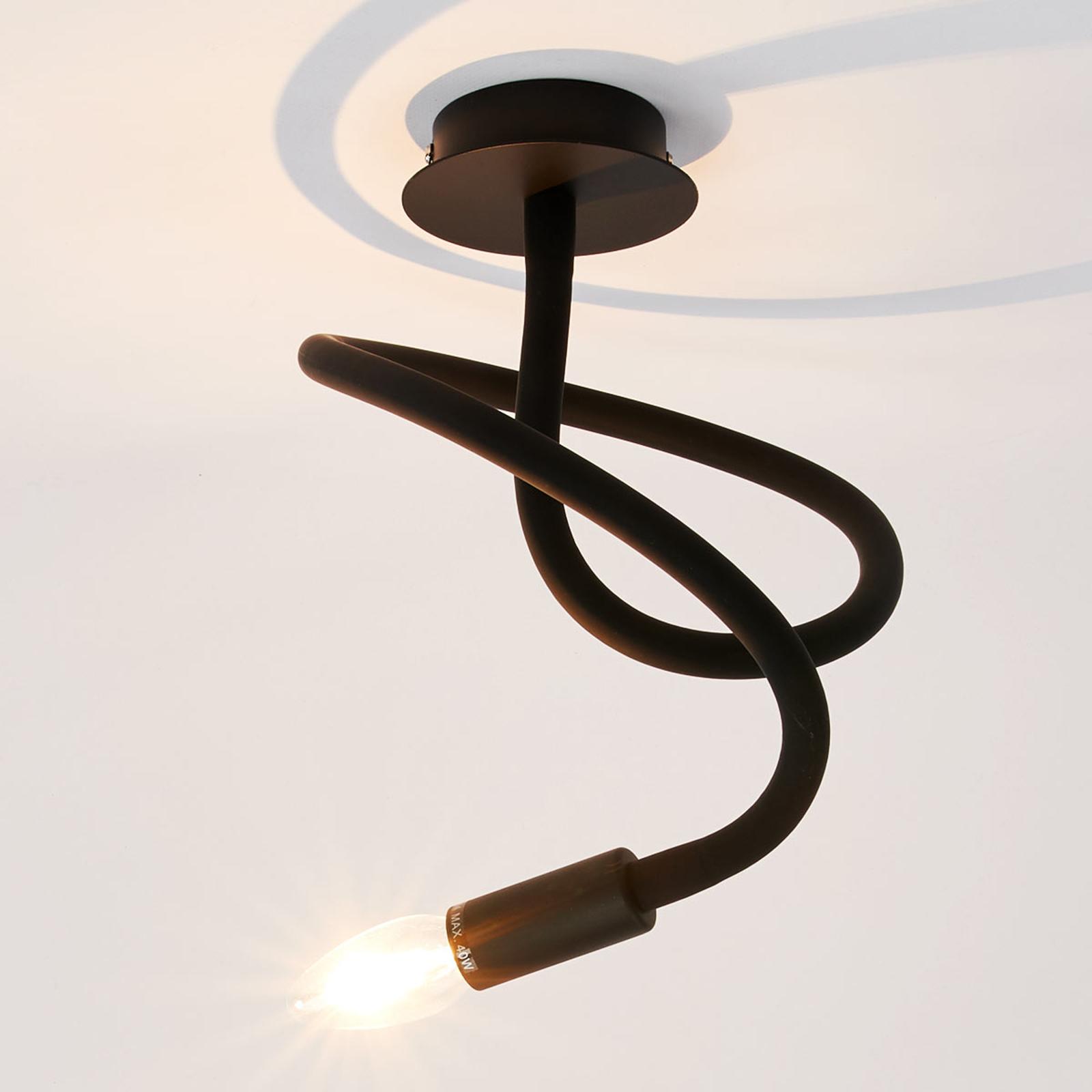 Deckenleuchte Lover 1-flammig, schwarz