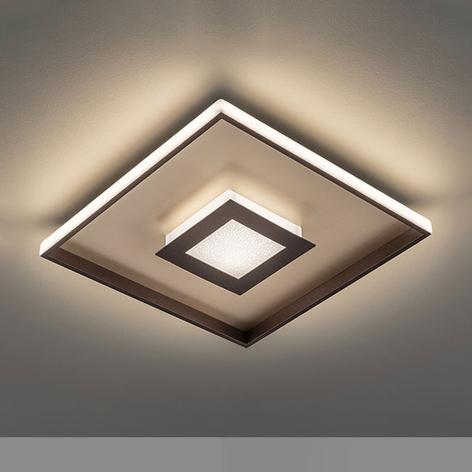 LED-Deckenleuchte Bug quadratisch, rost