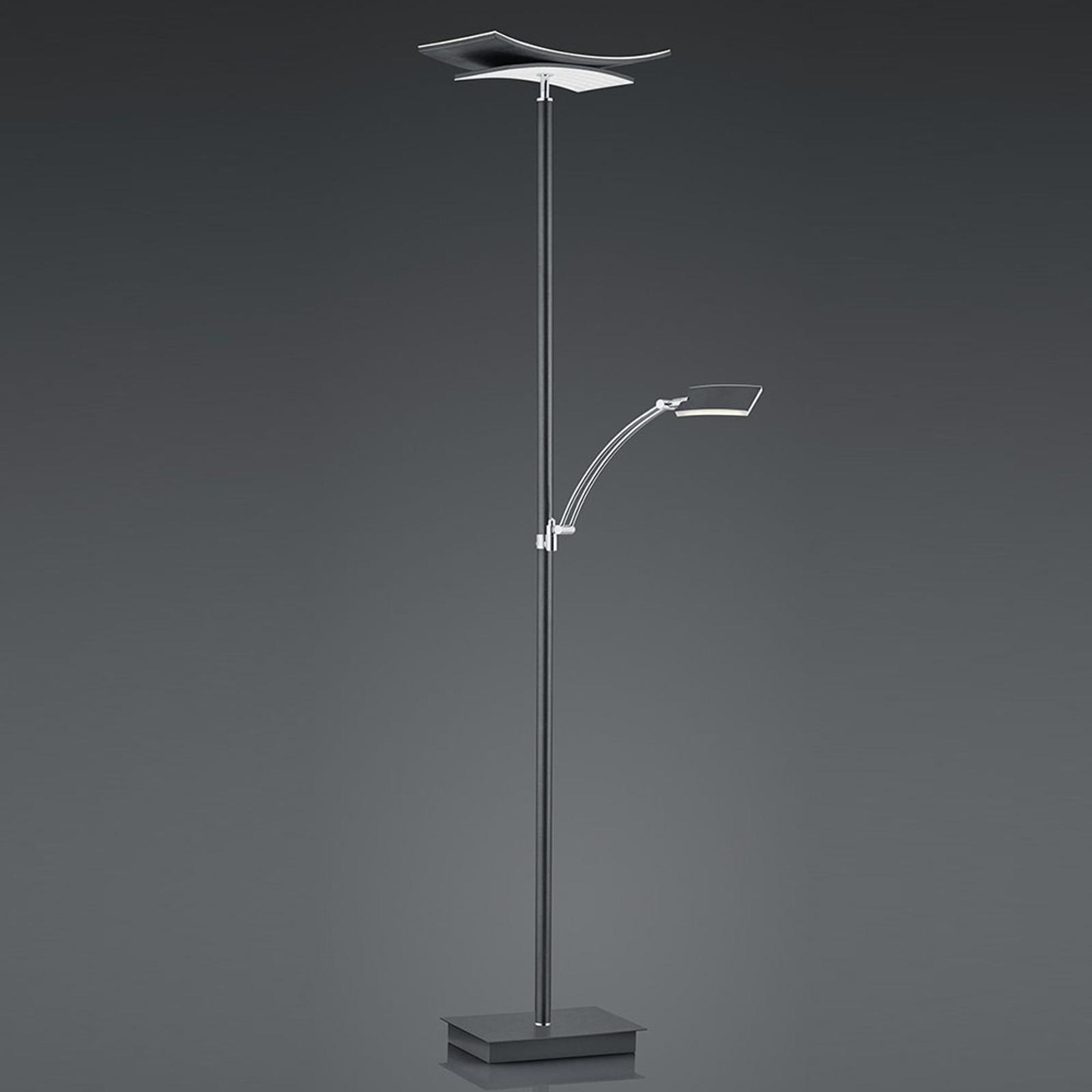 B-Leuchten Liberty LED golvlampa läsarm antracit