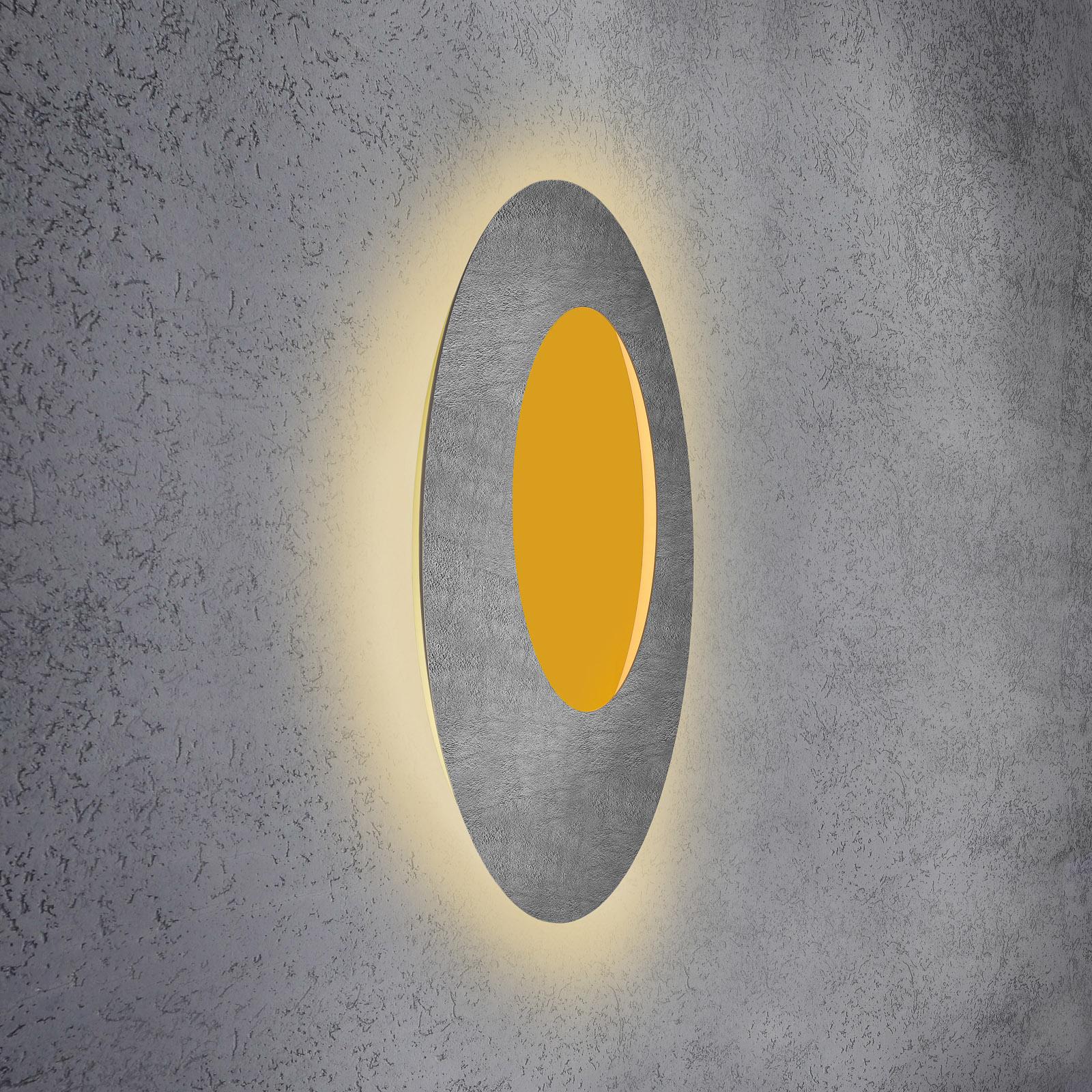 Escale Blade Open LED-vegglampe RGB+W betong Ø79cm
