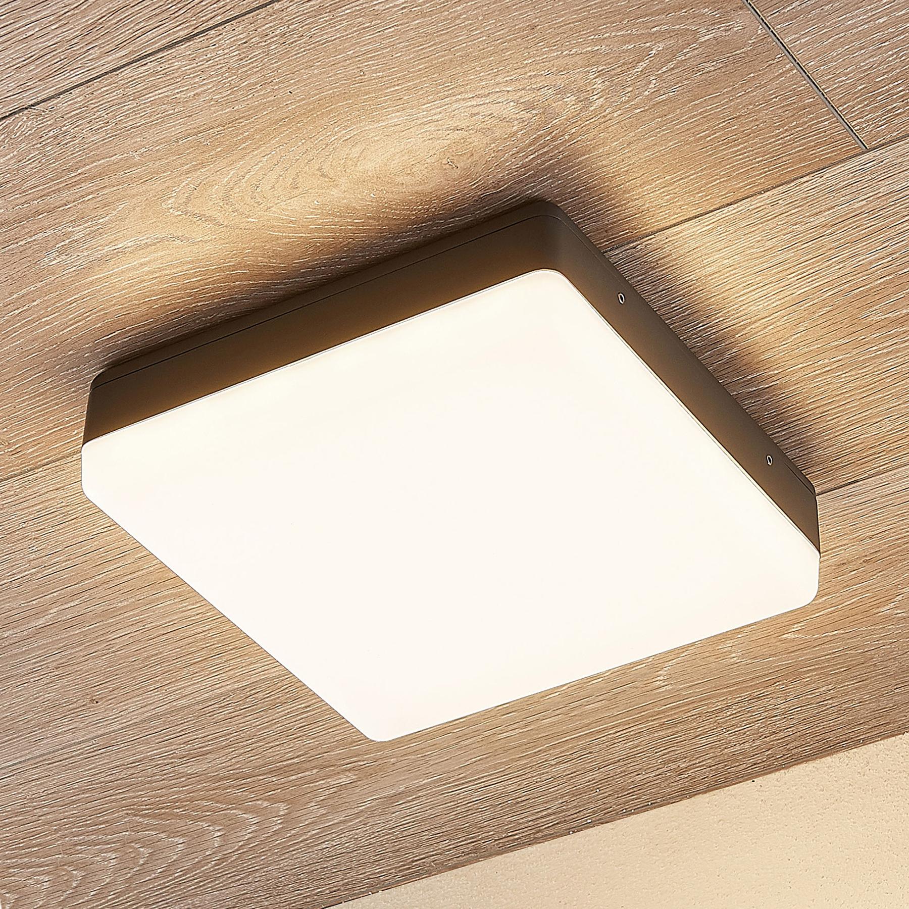 Lampa sufitowa LED Thilo, szary, 24cm