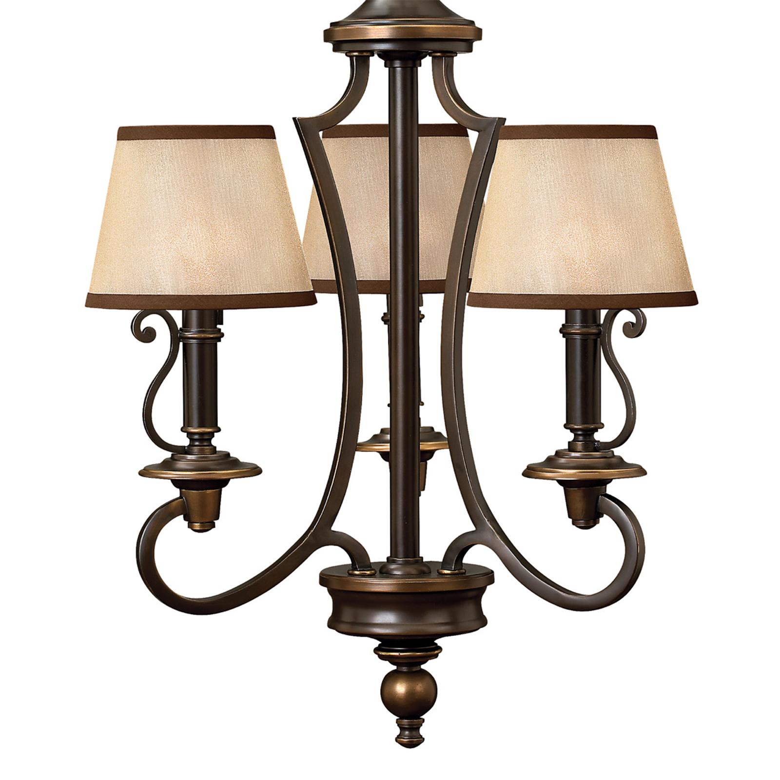 Hanglamp PLYMOUTH met kappen van Organza-stof