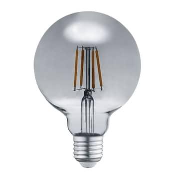E27 6 W 3.000K LED-globepære, røg