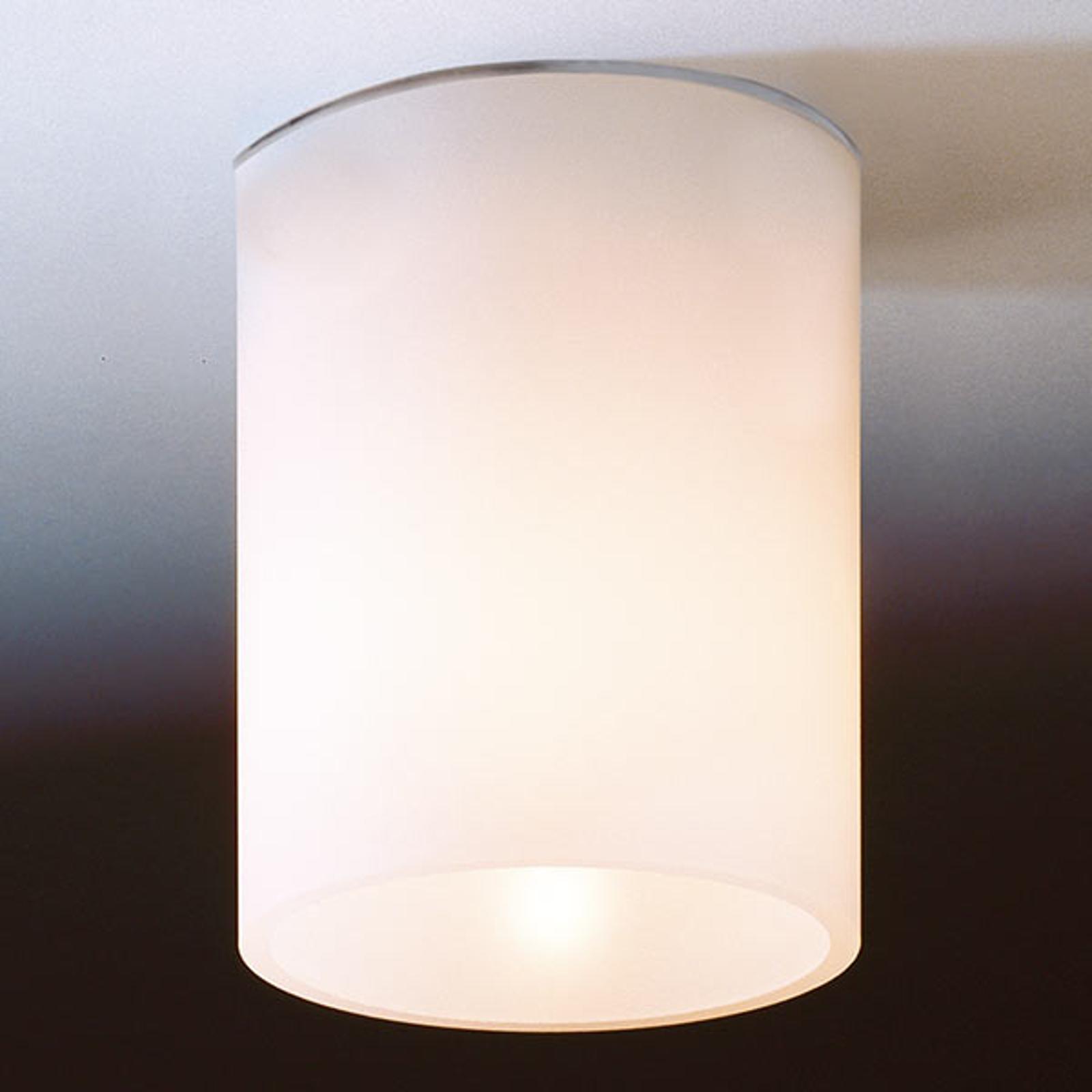Biała lampa sufitowa DELA SHORT ze szkła