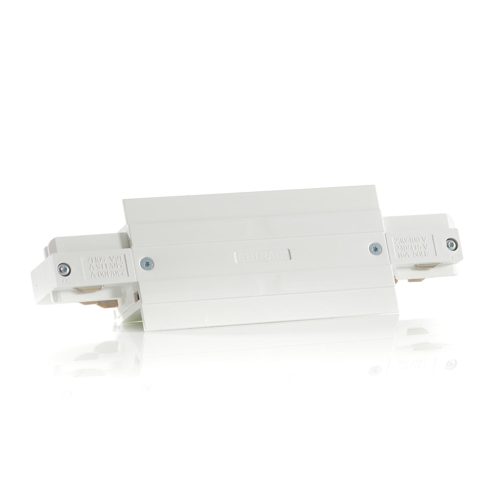 Eutrac I-Verbinder für Einbauschiene, weiß