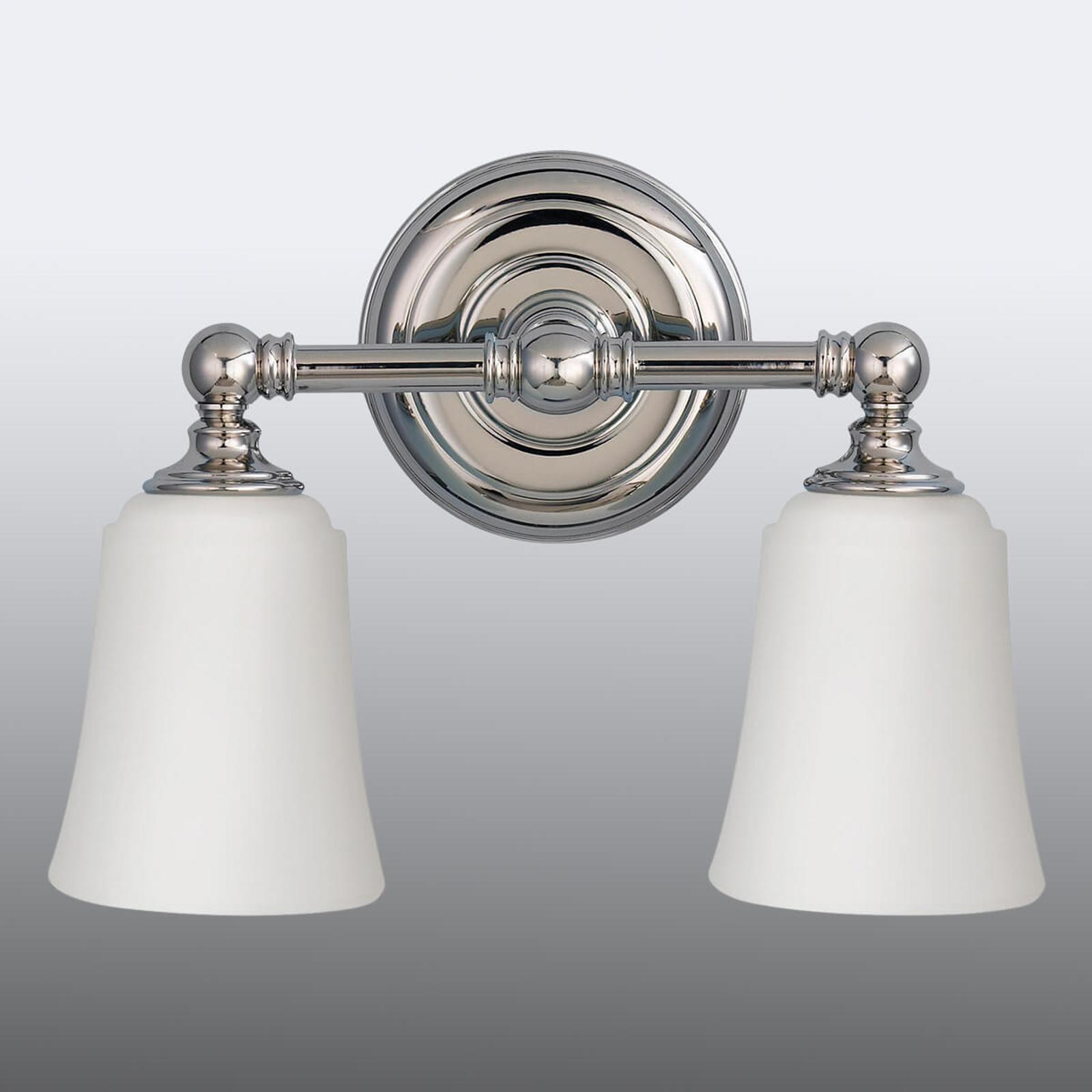 Lámpara de pared para baño Huguenot Lake, 2 brazos