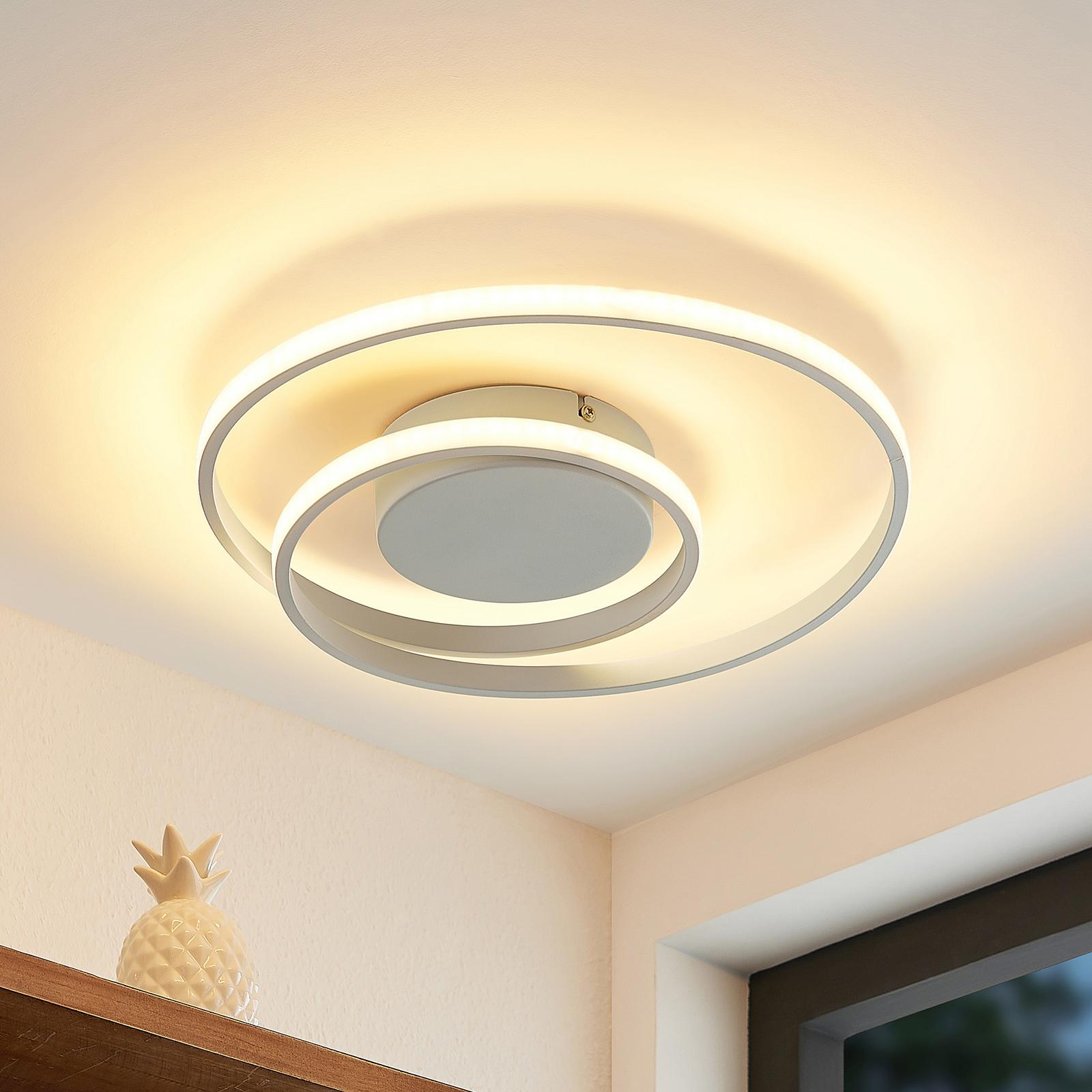Lindby LED-Deckenlampe Emisua CCT dimmbar weiß
