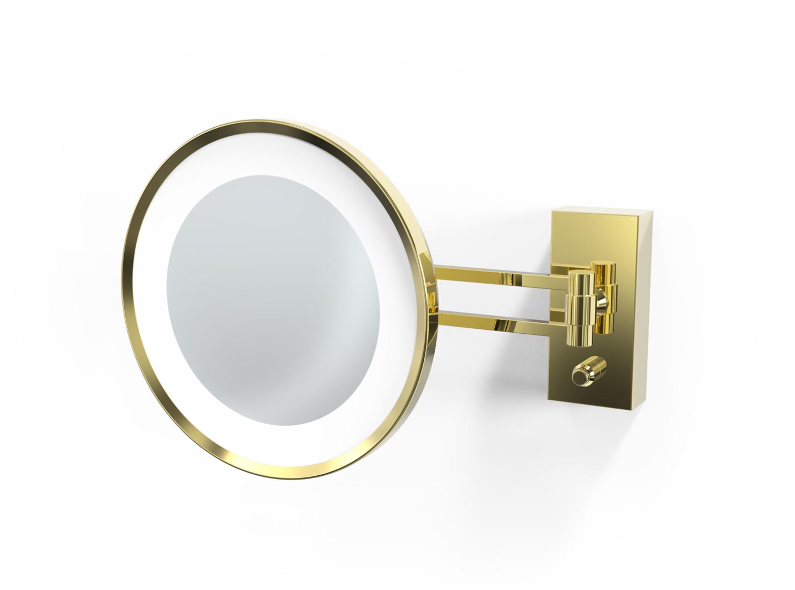 Decor Walther BS 36 espejo cosmético LED, dorado