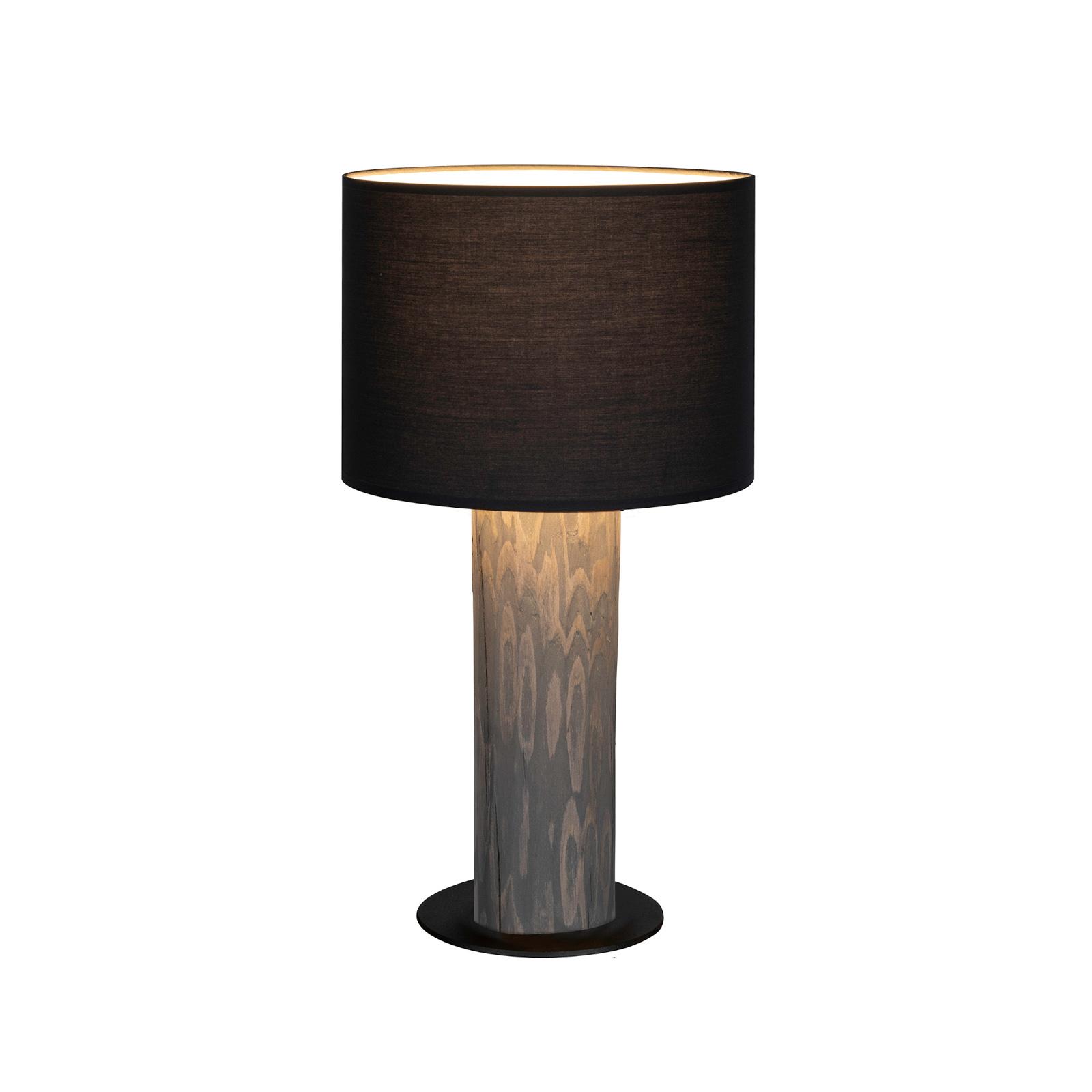 Pino Simpel bordlampe, antracit skærm, grå fod