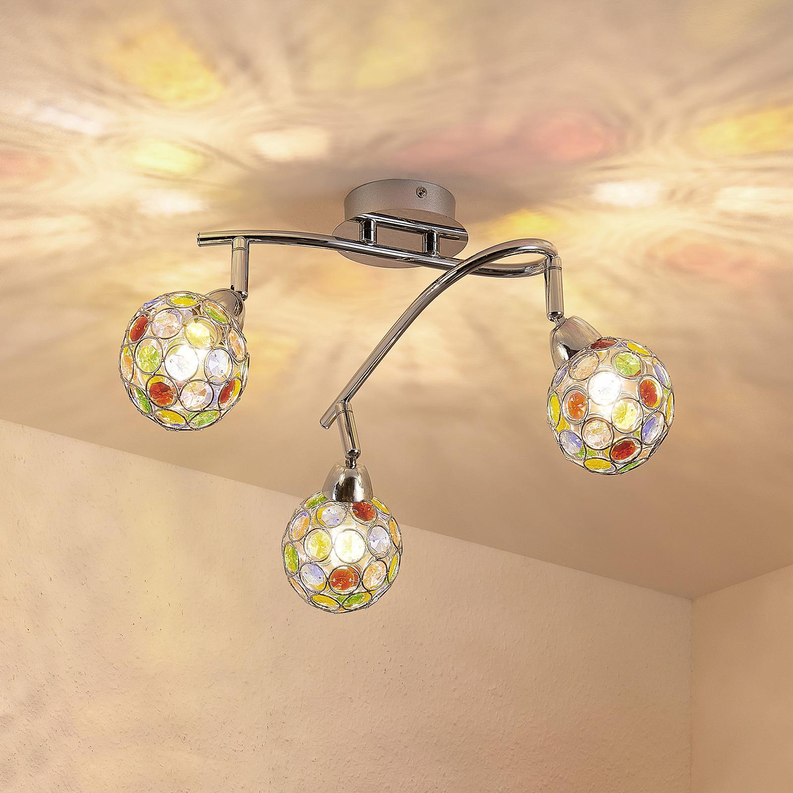 Lindby Dottys plafonnier à 3 lampes