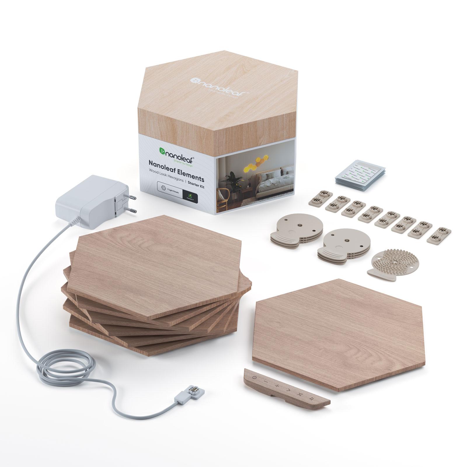 Nanoleaf Elements Wood Hexagons Starter Kit 7x