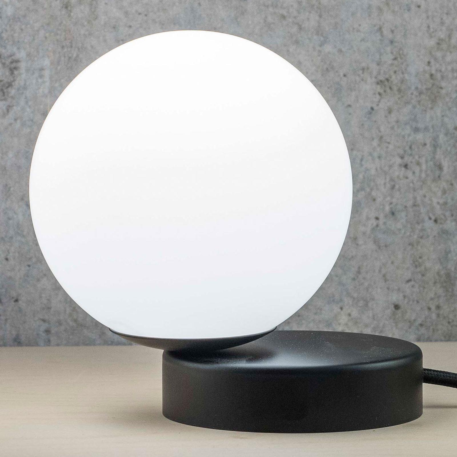 Tafellamp Lumi rond zwart