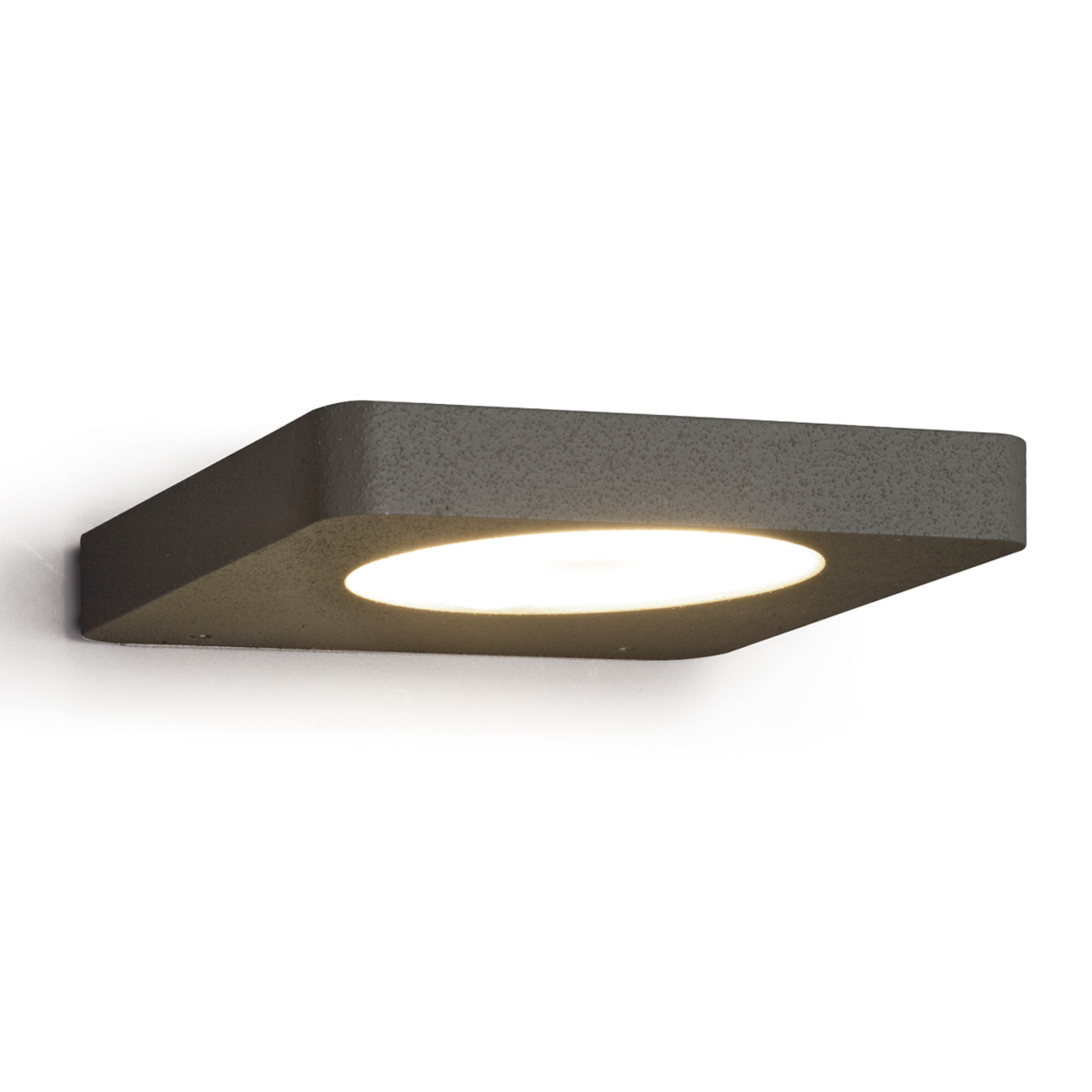 Applique LED Slim plate en noir mat