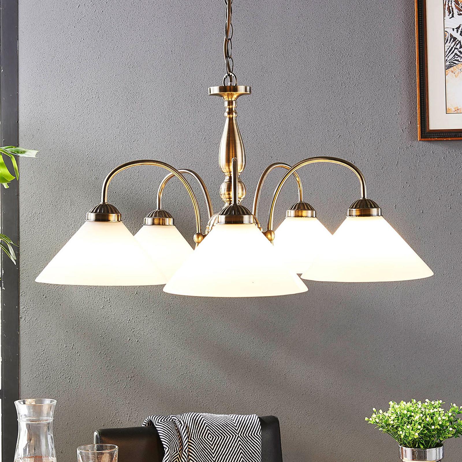Klassieke hanglamp Otis, vijfflammig