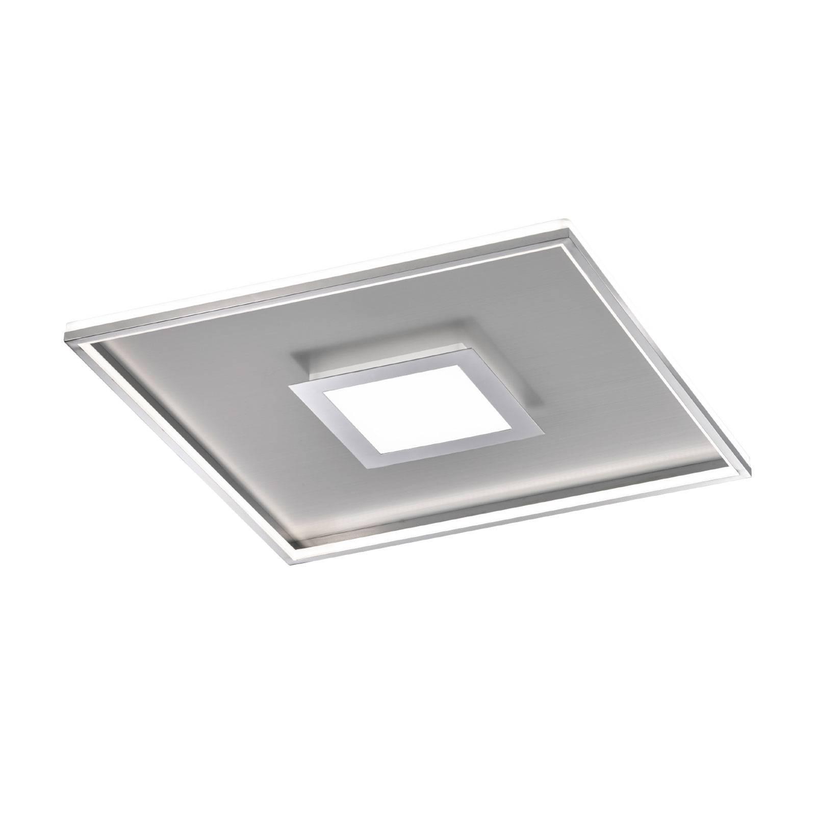 Plafoniera LED Zoe quadrata, cromo 60x60 cm