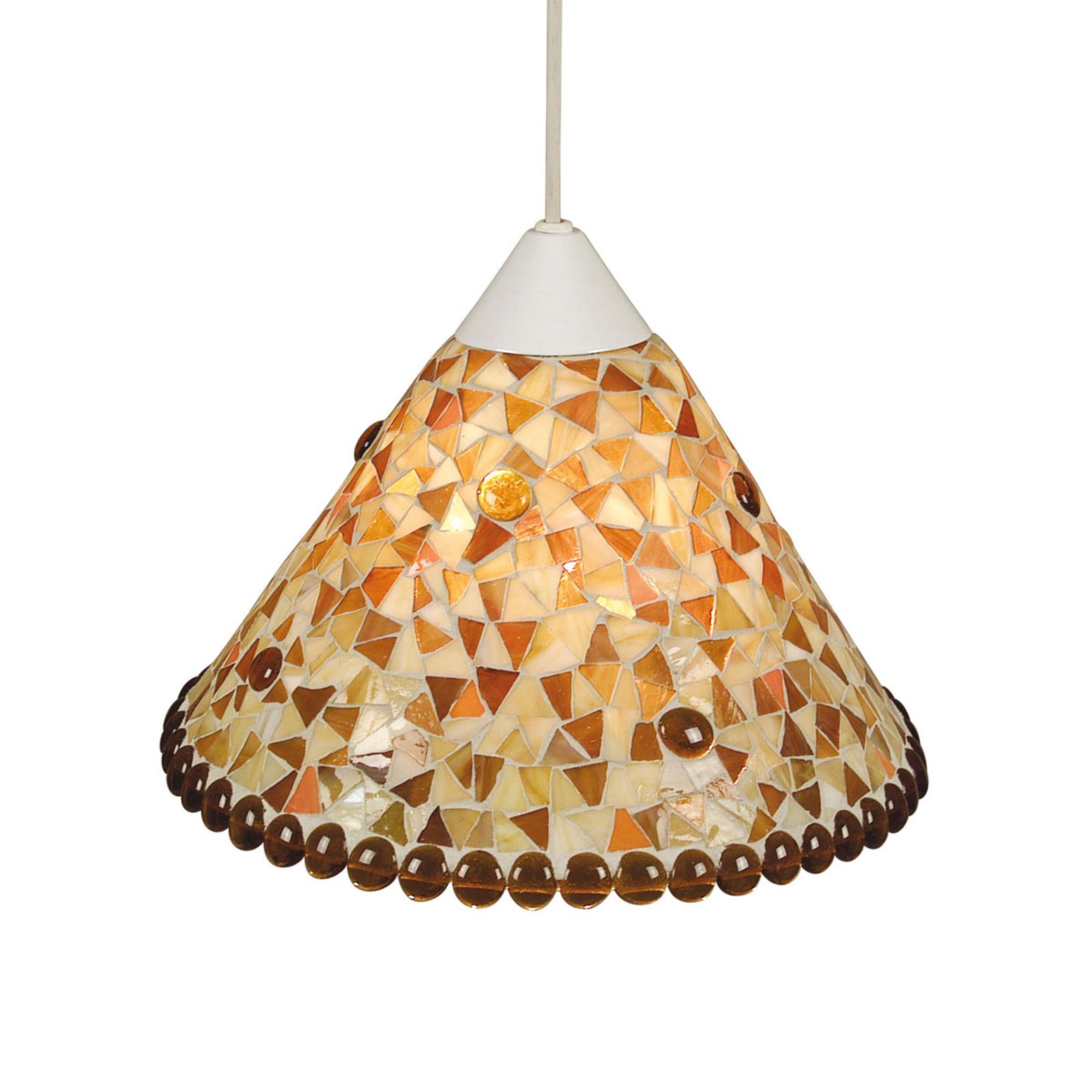 Lampa wisząca Enya Ø 28,5 cm żółto-brązowa