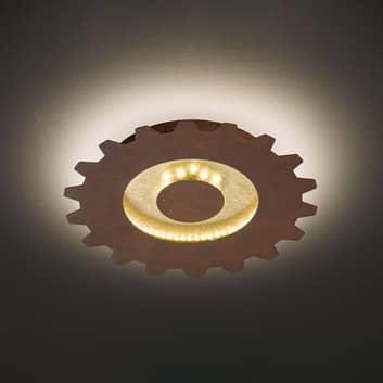 LED plafondlamp Leif in tandwiellook