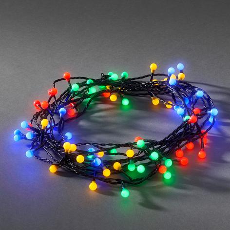 LED-ljusslinga utomhus, 80 lampor, kulört