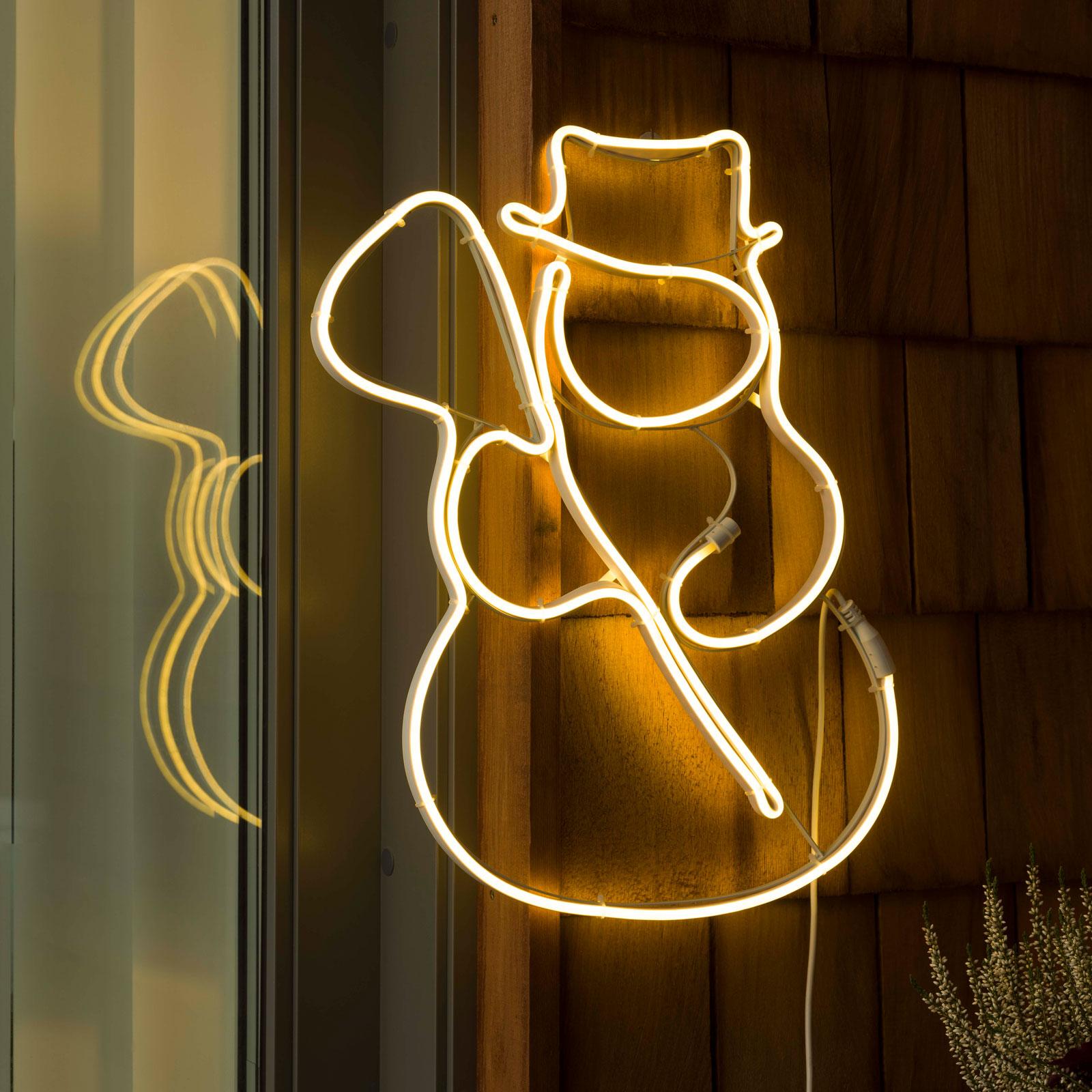 Profilo LED pupazzo di neve per finestra, esterni