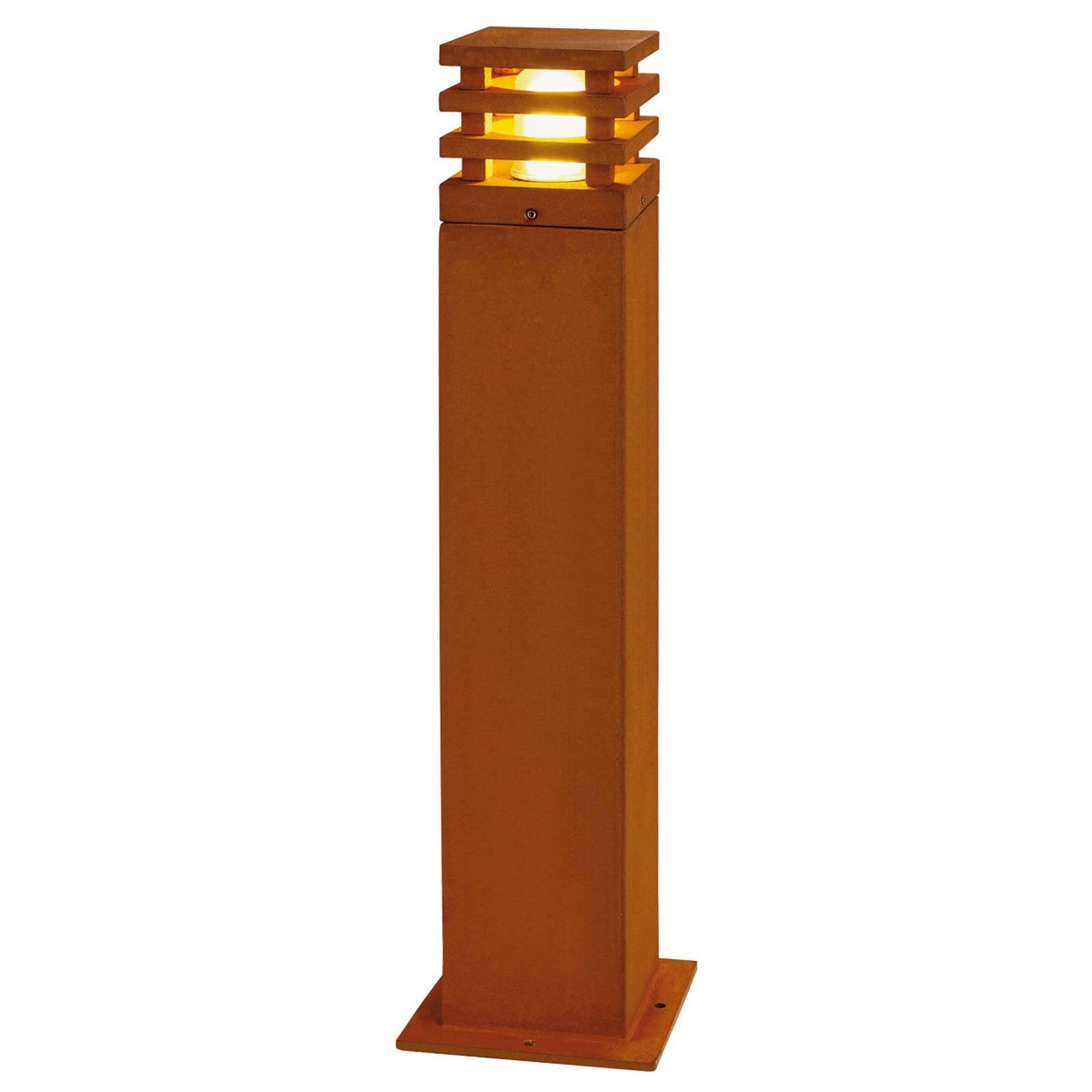 SLV Rusty słupek oświetleniowy LED rdzawobrązowy