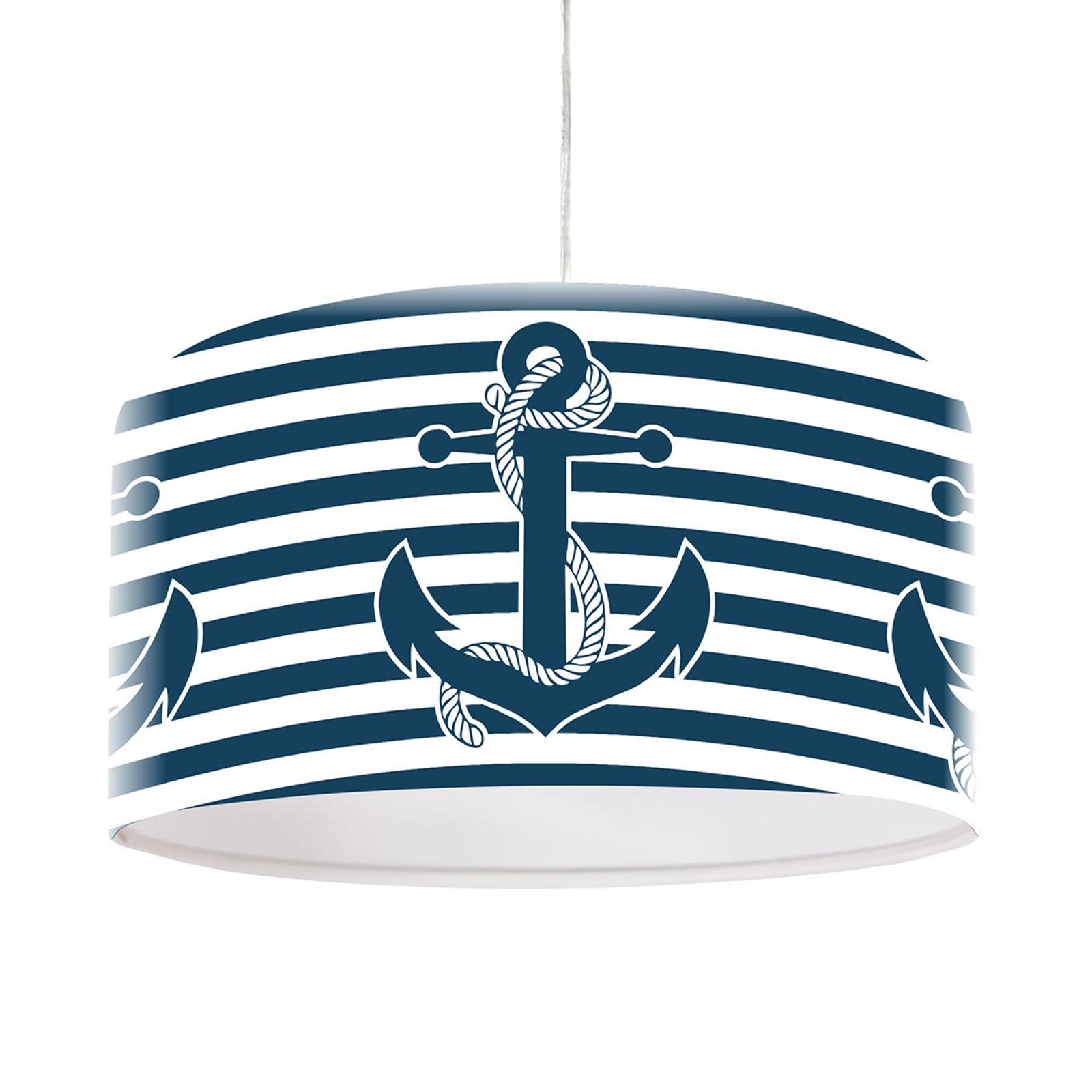 Morska lampa wisząca Ahoi z motywem kotwicy
