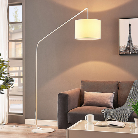Lámpara de arco Viskan en blanco
