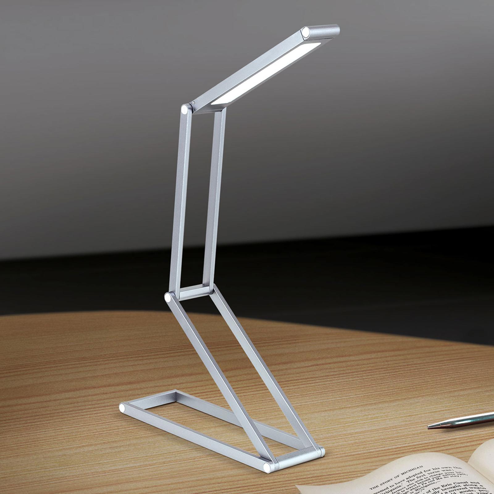 Opvouwbare LED tafellamp Falto met accu, antraciet