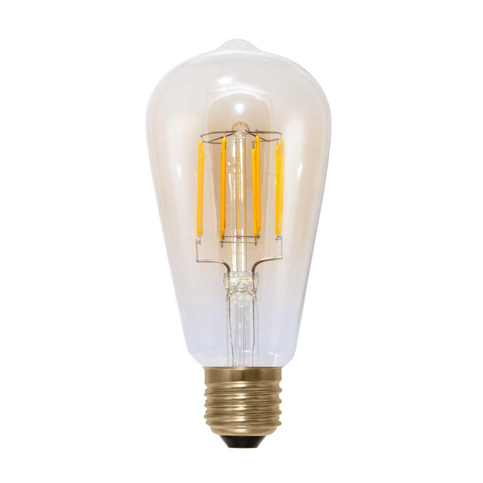E27 6W 920 LED-Rustikalampe in Kohlefadenoptik