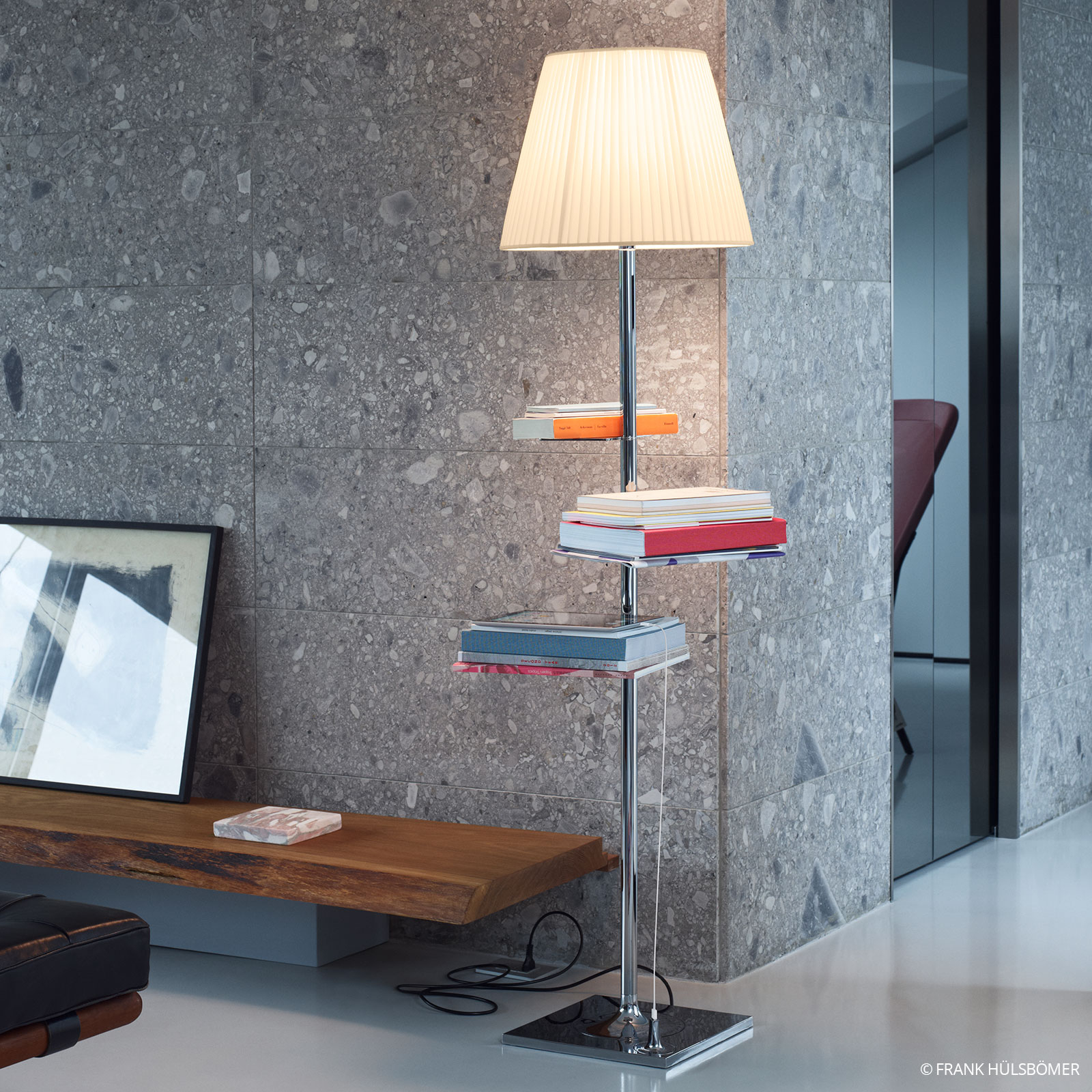 FLOS Bibliotheque Nationale Stehlampe PVC-Gewebe