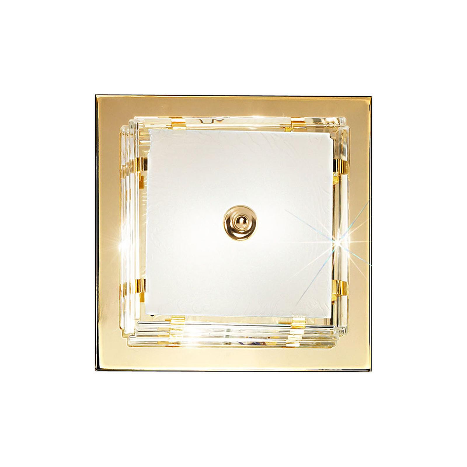 Lampa ścienna Ontario, 31 cm, złota, kwadratowa