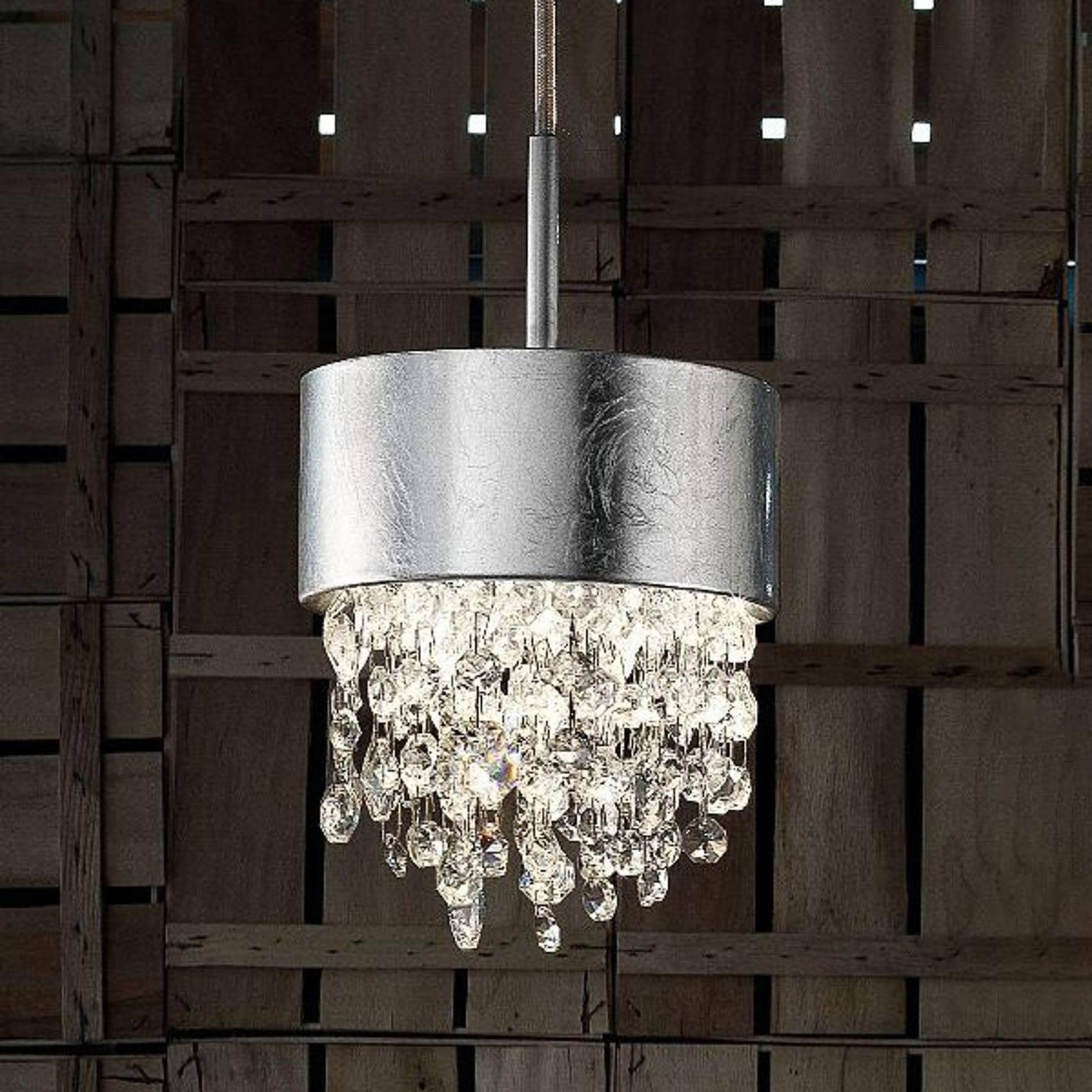 Lampa wisząca LED Olà S2 15, Ø15cm płatkowe srebro