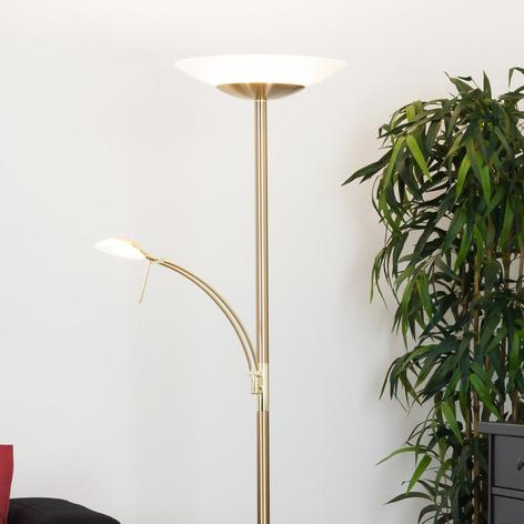 Lampadaire LED laiton Ilinca et lampe de lecture