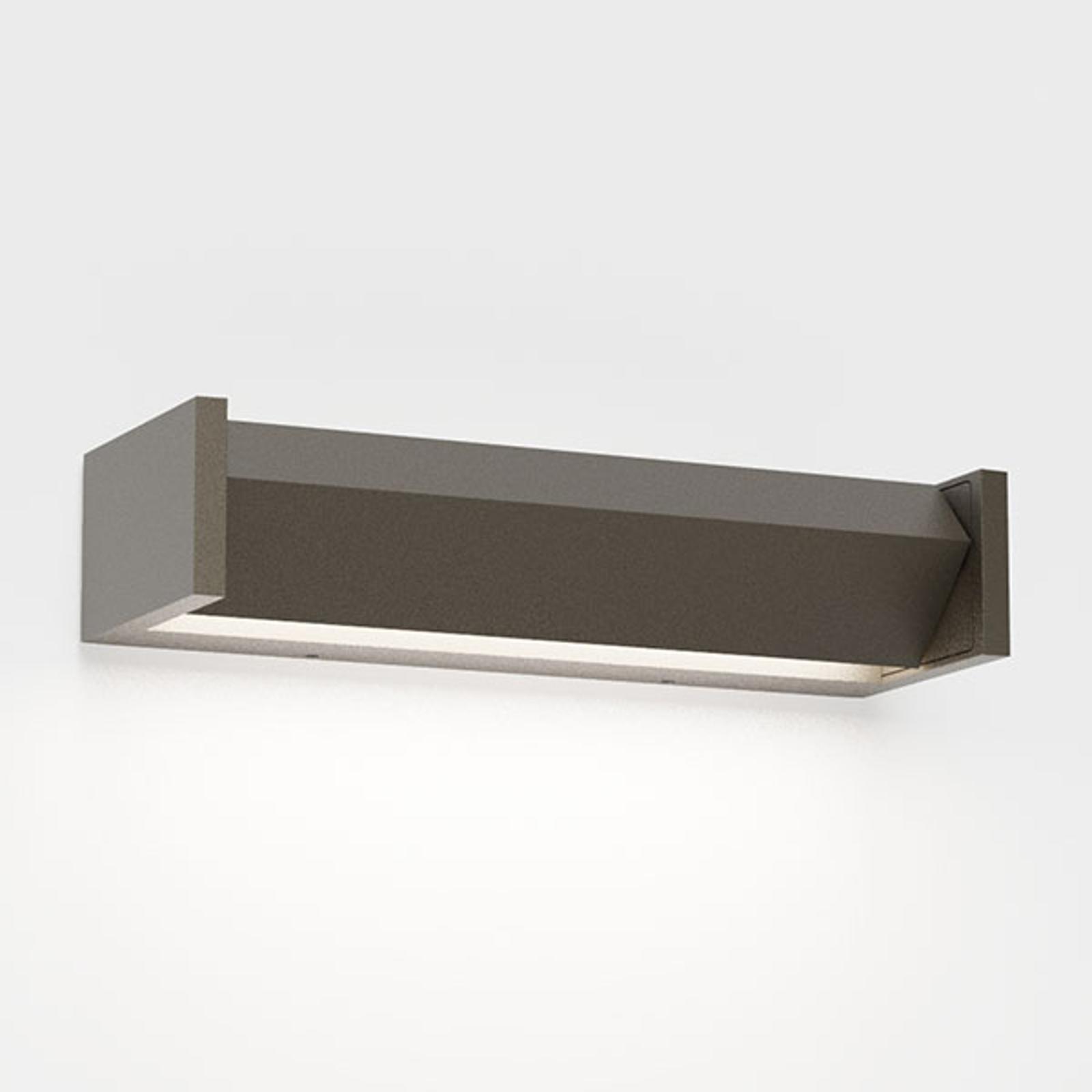 IP44.de Slat One LED-Außenwandleuchte, braun