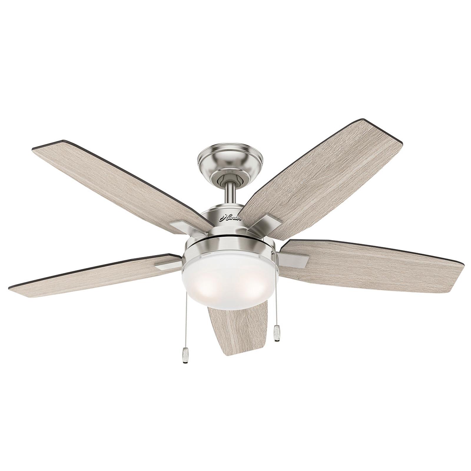 Hunter Arcot - ventilatore con luce, grigio/grigio