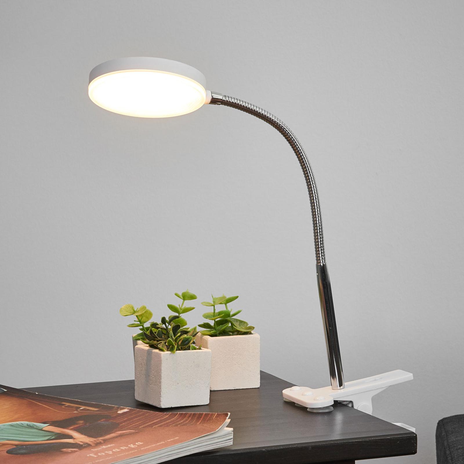 Lampe à pince Milow avec LED et bras flexible