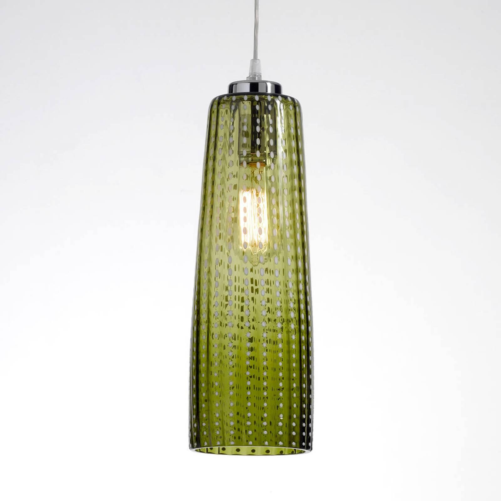 Bilde av Glass-hengelampe Perle, Eplegrønn