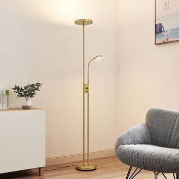 Lindby Seppa -LED-lattiavalo, pyöreä, messinki