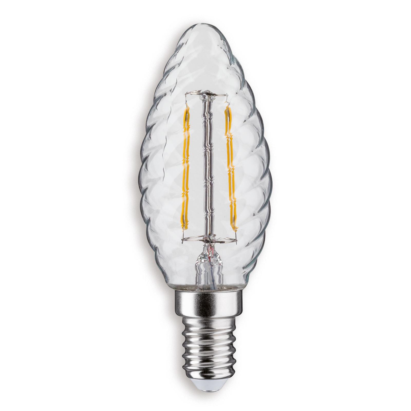 E14 2,5W 827 LED a candela ritorta