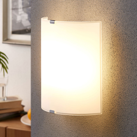 Phil - raffinata lampada da parete in vetro