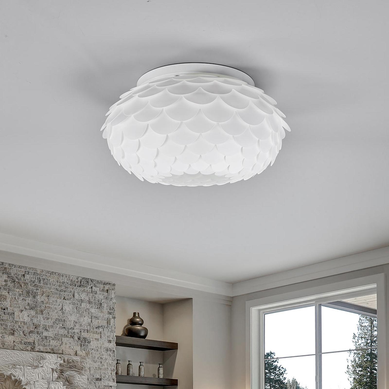 Taklampen Marees i hvitt, rund
